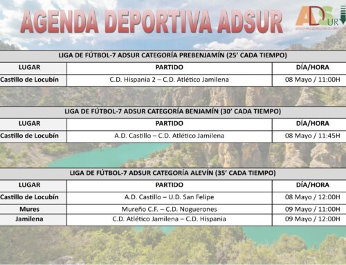 Agenda Deportiva ADSUR (08-09 Mayo)
