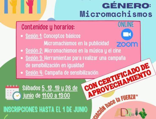 Formación online gratuita sobre micromachismos para jóvenes