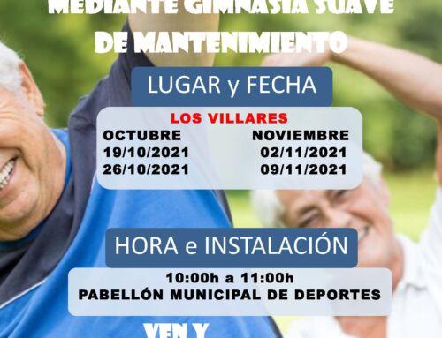 Tonificación en Sala mediante Gimnasia Suave de Mantenimiento en Los Villares
