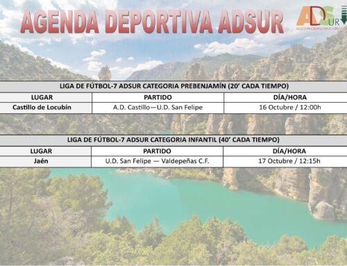 Agenda Deportiva ADSUR 15-17 Octubre