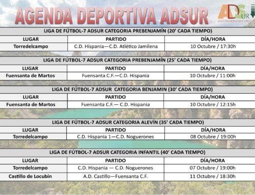 Agenda Deportiva ADSUR (04-11 Octubre)